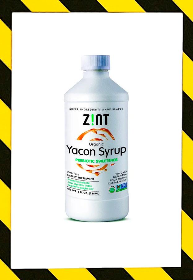 Zint, Yacon Органический сироп из якона, пребиотический заменитель сахара, низкий ГИ(236 мл)