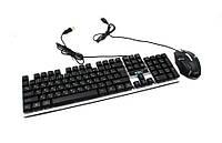 Клавиатура проводная с лед подсветкой и мышка Led Keyboard M 416 170498