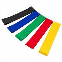 Набор фитнес резинок 5 шт Exercise Resistant Belt 180544