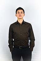 Черная питаленная мужская рубашка