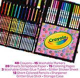Crayola Набор в чемодане 110 предм. Тролли скрапбукинг кейс 04-0912 Trolls World Tour Inspiration Art Case, фото 4