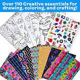 Crayola Набор в чемодане 110 предм. Тролли скрапбукинг кейс 04-0912 Trolls World Tour Inspiration Art Case, фото 5