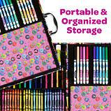 Crayola Набор в чемодане 110 предм. Тролли скрапбукинг кейс 04-0912 Trolls World Tour Inspiration Art Case, фото 6