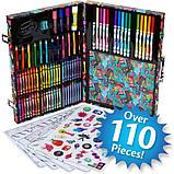Crayola Набор в чемодане 110 предм. Тролли скрапбукинг кейс 04-0912 Trolls World Tour Inspiration Art Case, фото 7