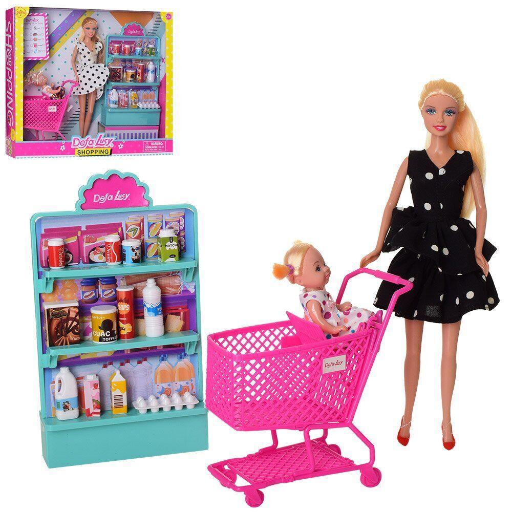 Кукла Defa 8364-BF_bl игровой набор, черное платье