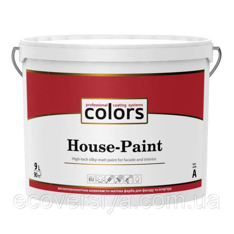 Краска акрилатная универсальная Colors House-Paint