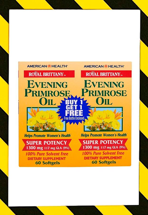 American Health, Royal Brittany, масло примулы вечерней, первоцвета вечернего, 1300 мг, 120 капсул