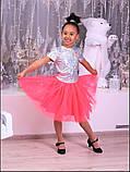 Пышная фатиновая юбка с подъюбником для девочек, фото 4