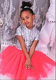 Пышная фатиновая юбка с подъюбником для девочек, фото 6