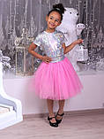 Пышная фатиновая юбка с подъюбником для девочек, фото 7