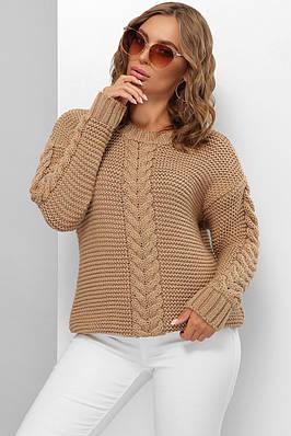 Бежевий в'язаний светр