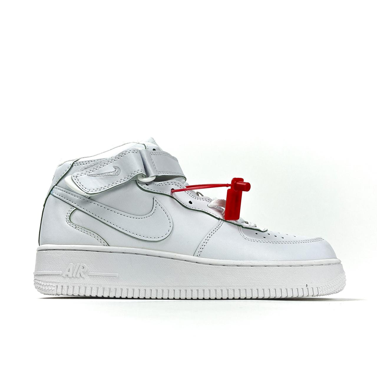Nike Air Force 1 High White (Мех) (Белый)