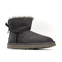 UGG Bailey Bow Mini Gray Suede (Серый)