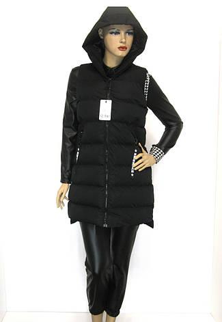 Жіноча жилетка з капюшоном, фото 2