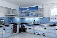 """Кухня с фасадами МДФ """"Небо"""""""