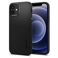 Чехол Spigen для iPhone 12 / 12 Pro Thin Fit, Black (ACS01696)