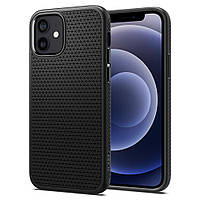 Чехол Spigen для iPhone 12 / 12 Pro - Liquid Air, Matte Black (ACS01701)