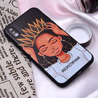 Чехол силиконовый, для iPhone XR, девушка с короной, XIX