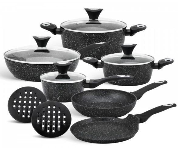 Набор посуды Edenberg EB-5611 EB-5612 с мраморным покрытием