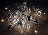 Ретро лампочки гирлянда проволока Капля Росы 4 м, 70 LED, 10 ламп, от сети 8 режимов, фото 4