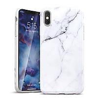 Чохол ESR для iPhone XS/X Marble Slim, White (4894240054673)