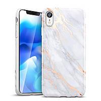 Чехол ESR для iPhone XR Marble Slim, Gray Gold (4894240071717)