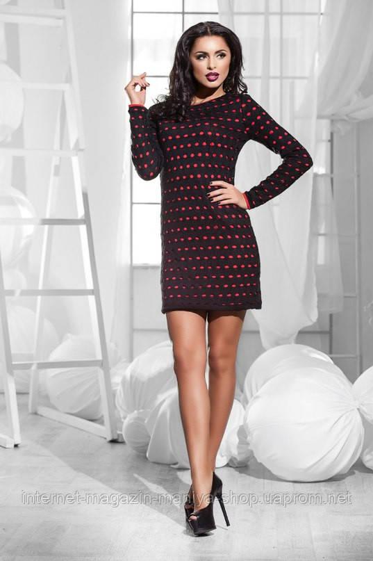 Женское стильное платье 3 расцветки