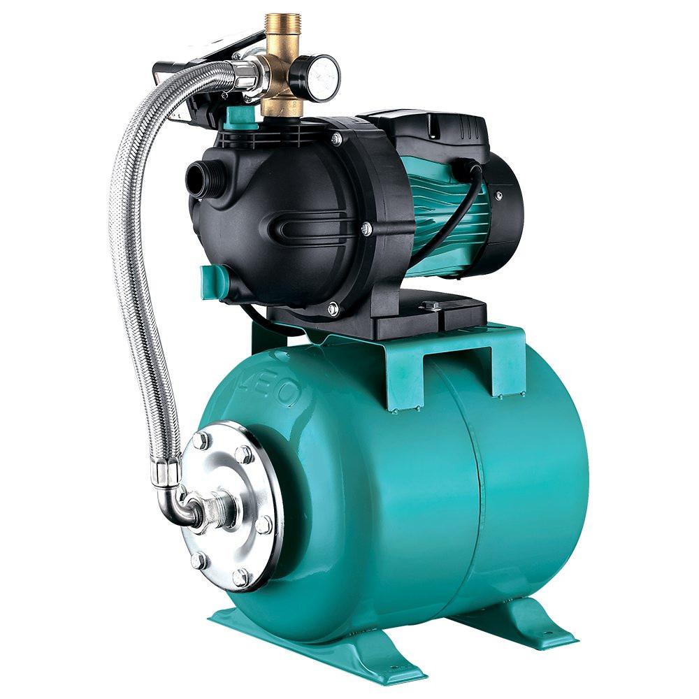 Станція 1.3 кВт Hmax 48м Qmax 80л/хв (самовсмоктуючий насос) 24л LEO (776205)