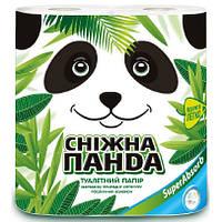 Туалетная бумага Снежная Панда Super Absorb 2-х слойная, 140 отрывов, 4 шт.
