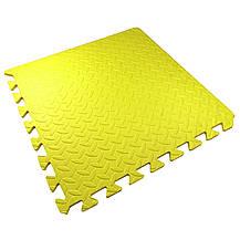 Мягкий детский пол 51х51х1см Малыш TIA-SPORT желтый, фото 3
