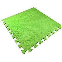 Мягкий детский пол 51х51х1см Малыш TIA-SPORT зеленый, фото 3