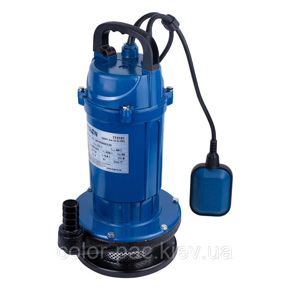 Насос дренажний 0.37 кВт Hmax 15м Qmax 140л/хв WETRON (773191)