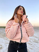 Женская вельветова весенняя куртка пудра подросток