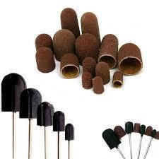 Педикюрные насадки для фрезера , барабанчики наждачные и колпачки наждачные.