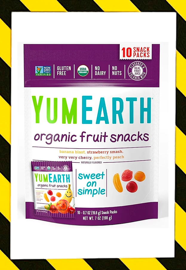 YumEarth, Фруктовые закуски органического происхождения, оригинальные, 10 пакетов, 19,8 г (0,7 унции) каждый