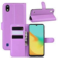 Чехол Luxury для ZTE Blade A7 книжка фиолетовый