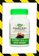 Nature's Way,Древесный уголь, активированный, 560 мг, 100 капсул