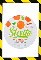 Stevita, Naturals, леденцы без сахара, возмутительный апельсин, 40 г, фото 1