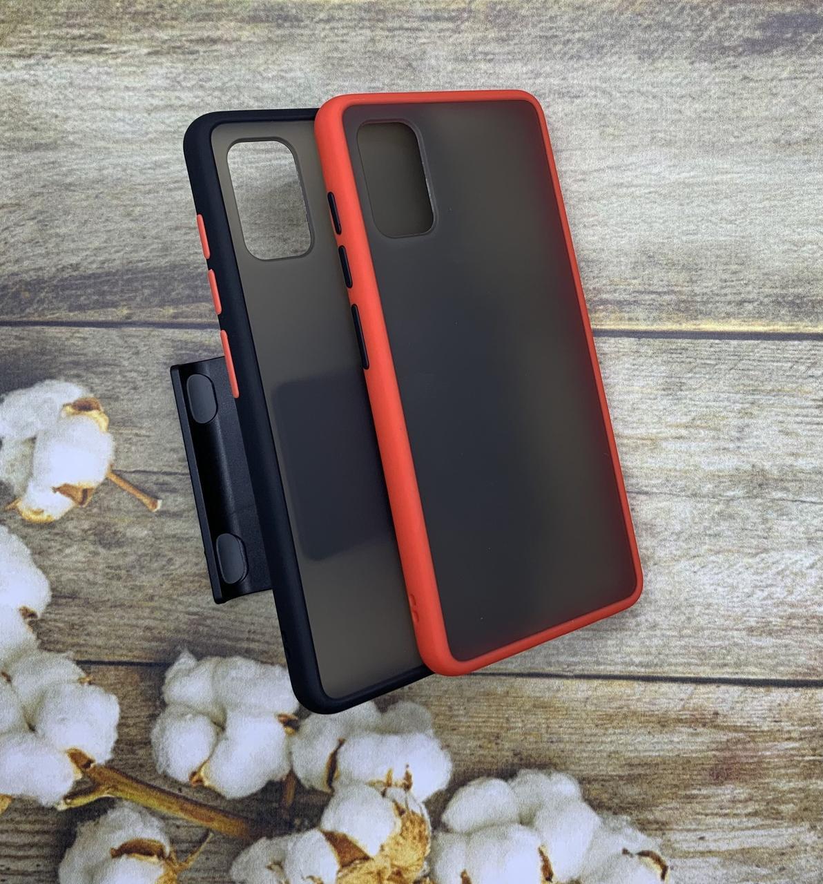 Чехол бампер накладка на Samsung A41 2020 (A415F) противоударный цветная окантовка