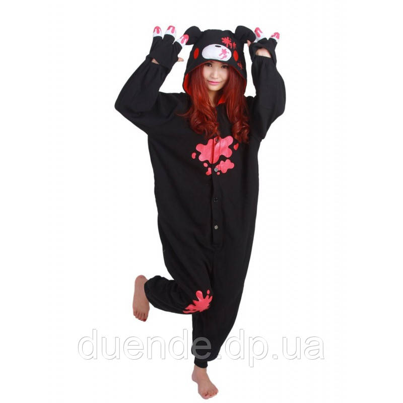 Кигуруми пижама Медведь Кумамон, кигуруми Медведь Кумамон для взрослых / Kig - 0055