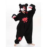 Кигуруми пижама Медведь Кумамон, кигуруми Медведь Кумамон для взрослых / Kig - 0055, фото 2
