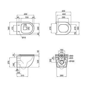 Унитаз подвесной Qtap Robin безободковый с сидением Slim Soft-close QT1333046ENRW, фото 2