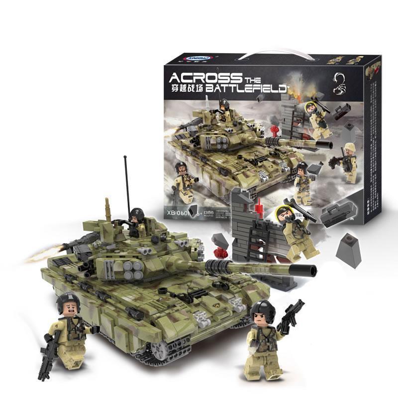 Конструктор Танк Т 90 Тигр Военная техника, 1386 деталей