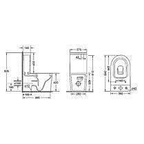 Унитаз-компакт Qtap Stork безободковый с сидением Soft-close QT15222178W, фото 2