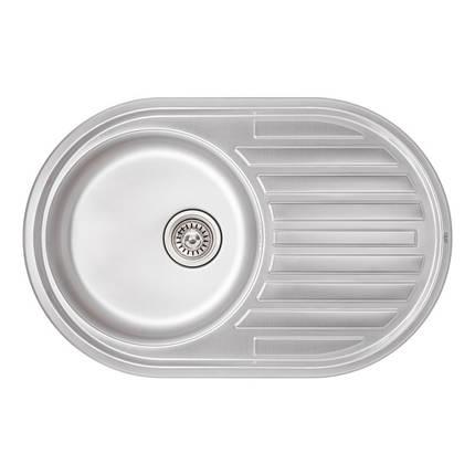 Кухонная мойка Qtap 7750 Micro Decor 0,8 мм (QT7750MICDEC08), фото 2