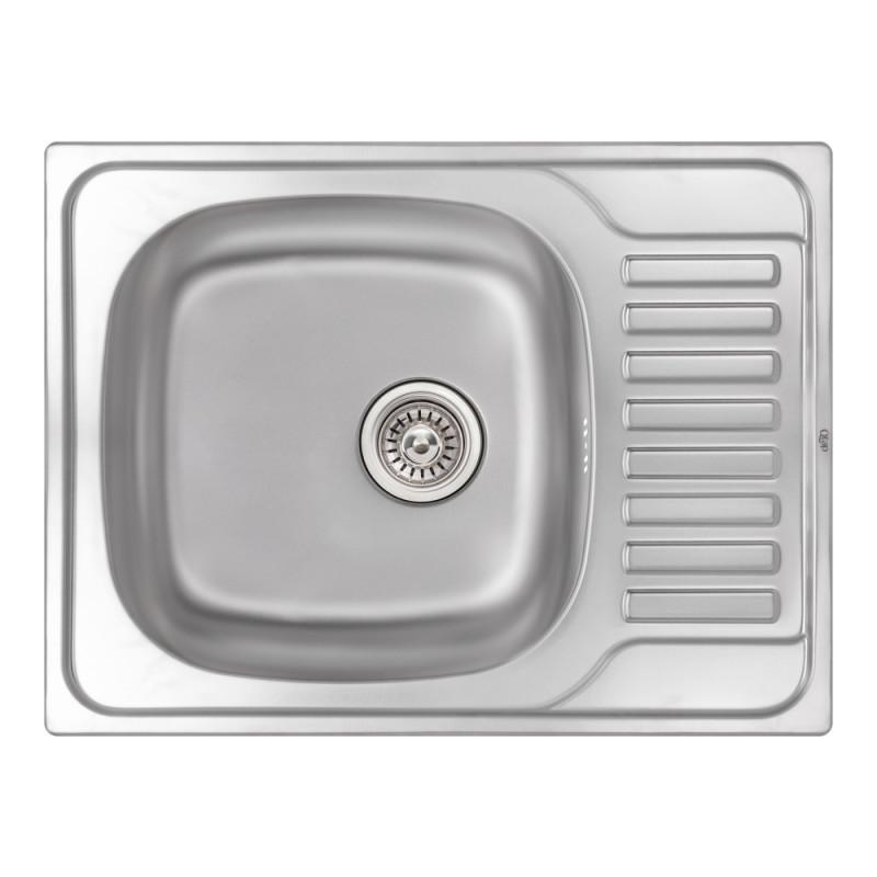 Кухонная мойка Qtap 6550 Micro Decor 0,8 мм (QT6550MICDEC08)