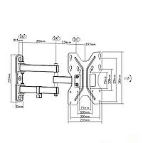Кронштейн от 13 до 42 дюйма, настенное крепление для телевизора Opera UDA11-223 | кронштейн на стену до 30 кг, фото 2