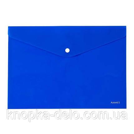 Папка на кнопке Axent 1412-22-A, А4, непрозрачная, синяя, фото 2