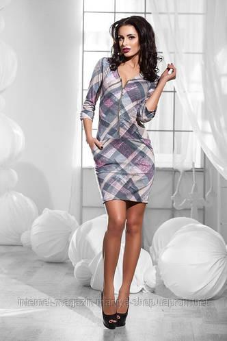 Стильное женское платье 2 расцветки