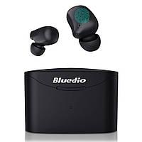Беспроводные Bluetooth наушники Bluedio T Elf 2 с зарядным боксом (Черный), фото 1
